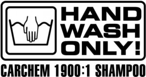 Naklejka CarChem Hand Wash Only